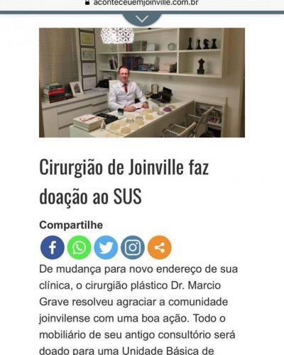 Doação do Consultório à Rede Municipal de Saúde de Joinville / SC